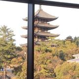 式場から見える五重塔