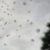 庭での風船演出