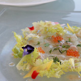 前菜・白身魚のカルパッチョ