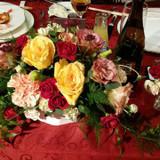 新郎新婦のテーブルのお花です!