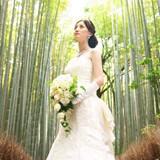 竹林でのフォト撮影