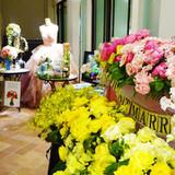 展示会の装花コーナー