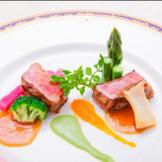 2013年秋に発表した新料理コース「ブリリアント」の肉料理♪ 和牛「静岡そだち」が美味しいんです!