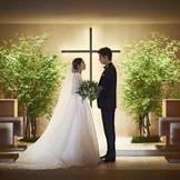 セントヴァレンタイン教会の付属教会。ウエディングドレスが映える大人な雰囲気。