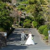 島津重富荘の入り口