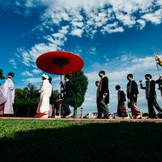花嫁行列での参進シーン