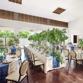 スタイリッシュ&モダンをコンセプトにしたバンケット「ラグーン」は、高級リゾートのヴィラを思わせる優美さ。200名様を収容できるスケールを誇り、他では味わえないゆったりとしたパーティを満喫していただけます。