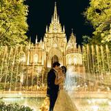 ストリングスホテル敷地内では、名駅最大級の大聖堂が佇む