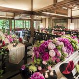 旧御用邸の和室で過ごす披露宴はどの世代のゲストにもゆっくりと過ごせる空間に!