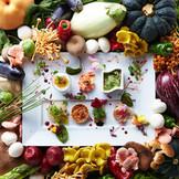 旬の食材を追及した一皿でゲストをおもてなしします