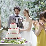 ガーデンではケーキ入刀などいろいろな演出に利用できそう