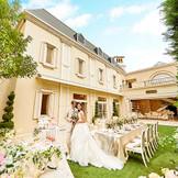 白亜の邸宅を貸切って、海外風ガーデンパーティも