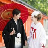【和装挙式・和婚式】ご新婦様に大人気の白無垢で洋髪スタイル。和装アレンジも多数ご提案いたします。