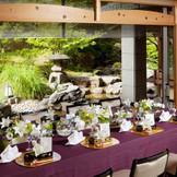 白梅亭~日本庭園が美しい和の空間。 家族だけの食事会や、顔合せ・結納も承ります。