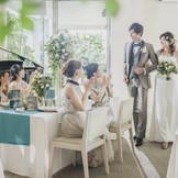 新郎新婦からもゲストからも大好評のwest53rd日本閣オリジナルの角テーブル