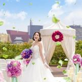 【空中庭園】小倉城を眺めながら祝福に包まれる挙式セレモニー☆