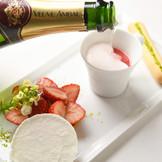 シャンパンと苺