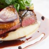 ロッシーニが愛したキュイジーヌ 牛フィレ肉とフォアグラのポワレ
