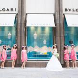 銀座の街で撮影する素敵なロケーションフォト!!人気ブランドが建ち並ぶ好立地でしか撮れない思い出の一枚を。