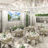 2020年10周年を迎える青山フェアリーハウスの人気会場『アイリス』がリニューアルオープン!! シルバー×ホワイトの大人花嫁にもピッタリ♪