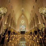 高さ45mバージンロード22mと北陸随一の圧倒的なスケールを誇る大聖堂で感動挙式