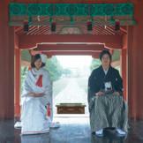 美しい日本の結婚式を新しく 鶴岡八幡宮の舞殿は他の神社にはない神聖な雰囲気