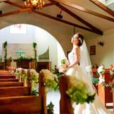 クラシカルな雰囲気が花嫁をより一層美しくみせます