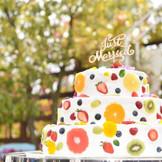 フルーツがかわいいケーキ