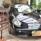 当日もピカピカの愛車で、ゲストの皆様をお出迎え♪