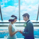 横浜ランドマークタワーからの絶景はゲストの心に残るおふたりからのおもてなし