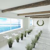 2017年1月にチャペルリニューアルオープン!ギリシャ・南エーゲ海に浮かぶ奇跡の島、サントリーニ島の丘を上がった場所にたたずむ教会をイメージした新チャペル♪