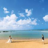 チャペル前のビーチ
