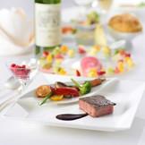 おもてなしに重要なお料理☆ホテルグランヴィア岡山では、岡山県産の食材を積極的にメニューに使用し、最高のタイミングでお出しできるよう、一品一品心を込めてお作りしております。