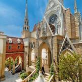 独立型大聖堂。 前撮りのスポットでも人気の外観。