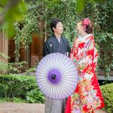 和装撮影に大人気な日本庭園