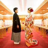 【神前挙式】 箱根神社の大神様の前で日本古来の神前結婚式