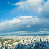 青空にかかる幸せの虹