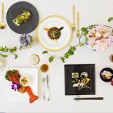 和食・洋食・中華の3コースからゲスト一人一人が食べたいコースを選択できる