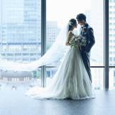 会場内には絶好の撮影スポットが。東京の眺望を背景にXEX東京でしか撮れないカットを。