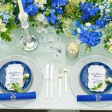 【リゾートスタイル】サムシングブルーとして結婚式で人気があるブルーコーデ