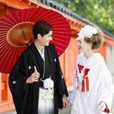 【和装挙式・和婚式】 ご新婦様に大人気の白無垢で洋髪スタイル。和装アレンジも多数ご提案いたします!