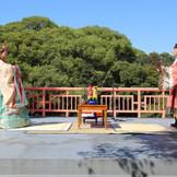 韓国伝統婚礼の一場面