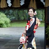 日本の伝統的な門の一つ長屋門。ここでの写真撮影はかかせません。