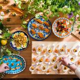 ヴィラ・デ・マリアージュ自慢の、軽食とお飲み物が、ゲスト様に会話と笑顔をもたらします!