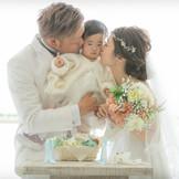 子供と一緒に結婚式