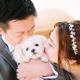 愛犬は二人の家族 そんな「家族と一緒の結婚式」もお手伝いしています。