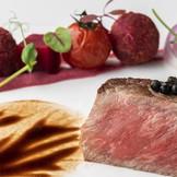 厳選された素材選び、調理法、匠の技の3つを掛け合わせて完成した料理。