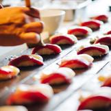 コース料理の最後にお寿司のブッフェやラーメンブッフェなどゲストがホッとするお食事を入れることも自由度高いカシータならでは