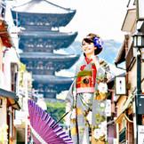 敷地内からも京都の名所、八坂の塔が楽しめる
