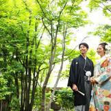 ホテル内にあるとは思えない日本庭園。 前撮りにもオススメ。